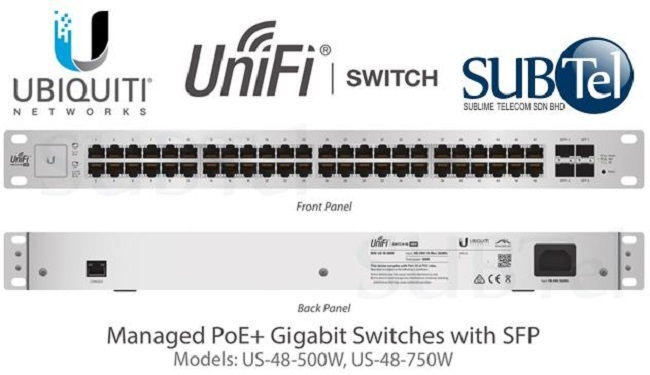 Ubiquiti UniFi Switch 48-Port PoE Switch 500W (US-48-500W)